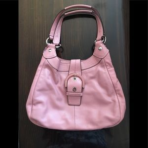 Pink Leather Coach Bag Luke New - Gorgeous